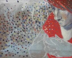 Katka,iba na prenájom,30x40cm,200€,olej na plátne,2005
