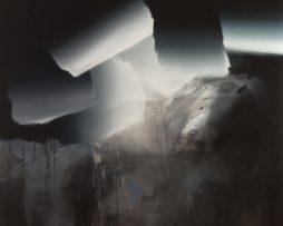 On the boundary a field, acrylic on canvas, 200x220 cm, 2014