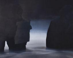 Reading rocks, acrylic on canvas, 190x200 xm, 2011