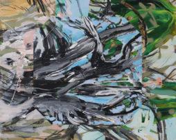 Tušený Malevič, 2015, 100x120cm akryl, uhlík, spray na plátne,