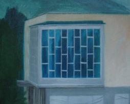 mestský úrad dca, olej na plátne,55x55cm,2009,300€