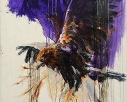 Blue eagle, 120x90, olej, plátno, 2012